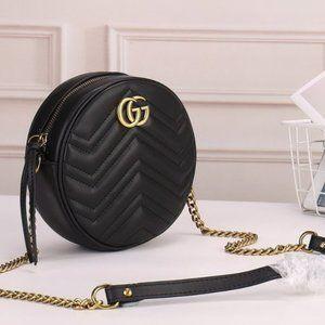 NWT💖 Guc ci💖 Marmont Round Zip Around Crossbody Bag
